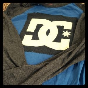 DC Mens T-shirt Long sleeve dark blue